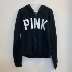 VS PINK Black Zipper Sweater